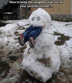 Snowman Snow Scarecrow