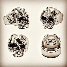 Kraken Rum Skull Ring