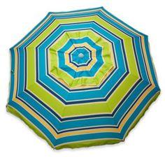 Tommy Bahama Beach Umbrella 7 Ft Blue Stripes Square