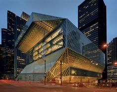 Biblioteca central de Seattle. Arquitecto: Rem Koolhaas (Oficina de Arquitectura Metropolitana). Año Completo: 2004