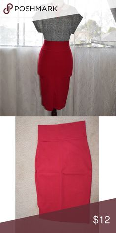 Red Pencil Skirt Super thick material, knee length, high waisted skirt, material is stretchy Skirts Pencil