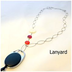Beautiful and elegant ID Badge Holder  lanyard  by LOLAccents