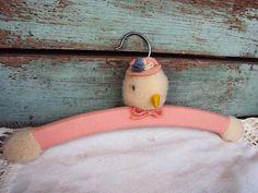 Vintage Decorative Hanger Baby Childs by primitivepincushion