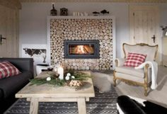 Amazing Wooden  House Living Room  #fireplace #surround #livingroom