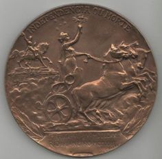 Medalha Comemorativa Derby Club. Grande Prêmio Centenário da Independência do Brasil. Ao Vencedor