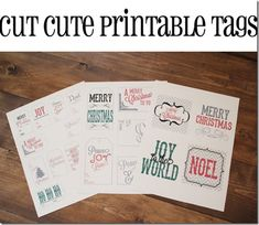 Cut Cute Printable Tags complements of Shanty 2 Chic
