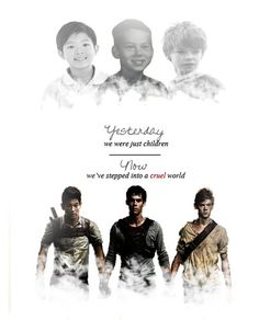 Thomas, Newt, and Minho. So depressed after I read the kill order. Everything makes sense now:(