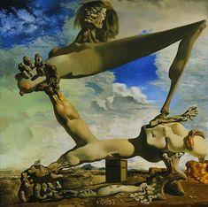 Art Peintures Salvador Dali - Prémonition de la guerre civile.