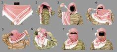 Arabský šátek - universální pomůcka pro mnohé situace :-)