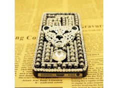 3D Crystal #Leopard Punk Rivet iPhone 5/5S #Case