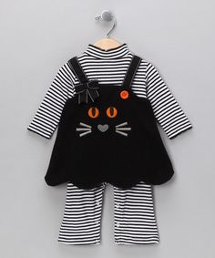 Take a look at this Black Stripe Cat Jumper & Playsuit - Infant by Gerson & Gerson on #zulily today!