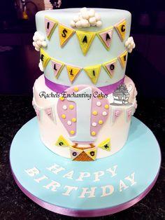 First Birthday Cake by Rachels Enchanting Cakes, Sheffield, www.rachelsenchantingcakes.com