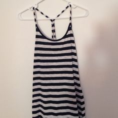 Navy and white tank top This is a cute striped tank top . Great condition Derek Heart Tops Tank Tops