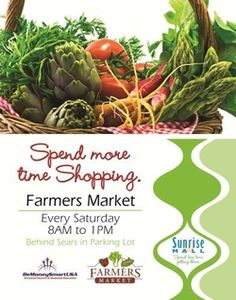 Farmers Market at Sunrise Mall! every sunday from 8am-1pm