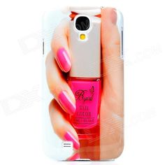 Brand: No; Quantity: 1 Piece; Color: Pink + white + nude; Material: Plastic; Compatible Models: Samsung Galaxy S4 i9500; Other Features: Fashion design, personalized your cell phone; Protects your device from scratch, dust and shock; Packing List: 1 x Back case; http://j.mp/1v2V7Hy