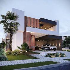 Contemporary Beach House, Best Modern House Design, Modern Exterior House Designs, Modern Villa Design, Dream House Exterior, Exterior Design, House Outside Design, Village House Design, Home Building Design