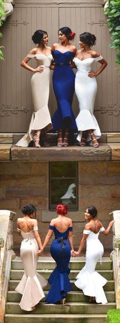 Sexy Bridesmaid Dress Mermaid Bridesmaid Dress Off-the-Shoulder Bridesmaid Dress