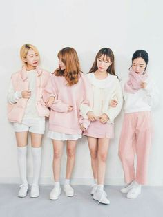 Pink and white matching trends