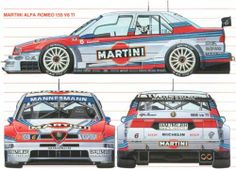 Alfa Romeo 155 V6 TI Martini Racing Livery