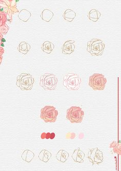 30 Simple Ways to Draw Flowers // Things to draw, rose drawing, drawing ideas, flower drawing ideas, how to draw The post 30 Ways to Draw Flowers appeared first on Woman Casual. Simple Flower Drawing, Flower Drawing Tutorials, Simple Line Drawings, Flower Sketches, Art Drawings Sketches, Easy Drawings, Art Tutorials, Flower Art, Flower Drawings