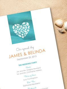 Tie Dye  Beach Wedding Program DIY or printed by TheNiaDesigns, $30.00