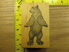 BEAR ON ROLLER SKATES BY CIRCUS STAMPS Rubber Stamp #3775