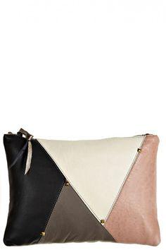 Leather Capri Clutch