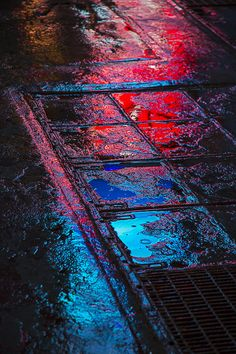 Sidewalk Reflections by Garry Gay