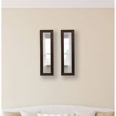 Rayne Country Pine Mirror Panel, Set of 2, Brown