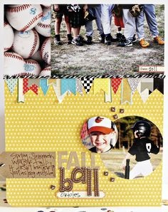 "Perfect layout for baseball game dates for my 52 dates journal/smashbook/scrapbook! Include ""filler"" pictures of baseballs, the seats, etc from our photo shoot last year!"