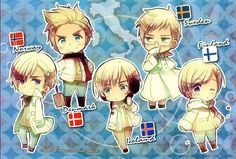 Tags: Axis Powers: Hetalia, Denmark, Sweden, Finland, Norway, Iceland, Nordic Countries, Official Art, Himaruya Hidekaz, Tumblr