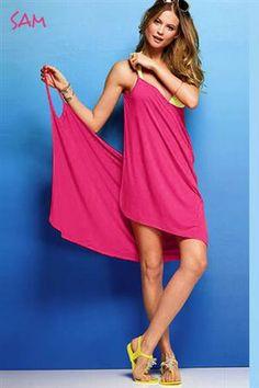 SAM Letní zavinovací šaty, neboli také plážové šaty beach růžové