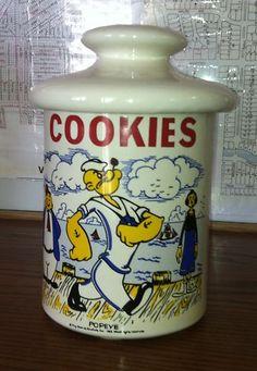 Popeye Cookie jar. <3