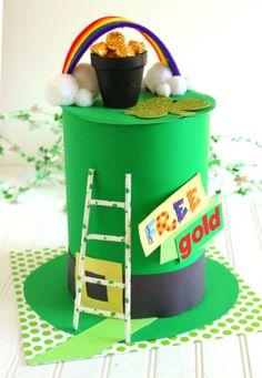 DIY leprechaun trap ideas. St. Patricks Day crafts.