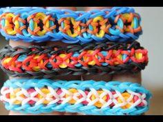 ▶ Rainbow Loom Nederlands, Confetti Criss-Cross, armband - YouTube