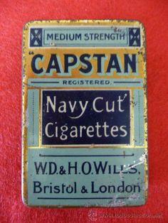 LATA de TABACO CAPSTAN Medium Navy Cut, Bristol & London | PerroverdeShop