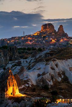 Goreme summer twilight, Cappadocia, Turkey