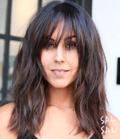 * 60 Super Chic Hairstyles for Long Faces to Break Up the Length Awesome Awesome Medium Brunette Sh. Medium Hair Cuts, Medium Hair Styles, Curly Hair Styles, Long Face Hairstyles, Chic Hairstyles, Good Hair Day, Great Hair, Curls, Hair