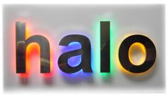 halo lit signs - Google Search