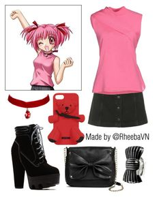 """""""Zoey Hanson 1 (Mew Mew Power)"""" by rheebavn ❤ liked on Polyvore featuring Topshop, J.W. Anderson, Moschino, Sam & Libby and Sonia Rykiel"""