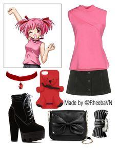 Zoey Hanson 1 (Mew Mew Power) by rheebavn on Polyvore featuring polyvore fashion style J.W. Anderson Topshop Sam & Libby Sonia Rykiel Moschino clothing