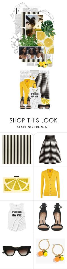 """""""2 days left in the When Life Gives You Lemons Contest"""" by crystal85 ❤ liked on Polyvore featuring Nicki Minaj, Rumour London, Alice + Olivia, Tory Burch, E L L E R Y and J.Crew"""