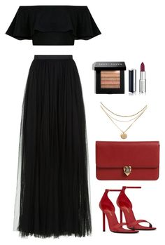 A fashion look from July 2017 featuring flutter-sleeve tops, maxi skirts and Yves Saint Laurent. Browse and shop related looks. Casual Fall Outfits, Classy Outfits, Stylish Outfits, Kpop Outfits, Skirt Outfits, Girl Fashion, Fashion Outfits, Professional Outfits, Elegant Outfit