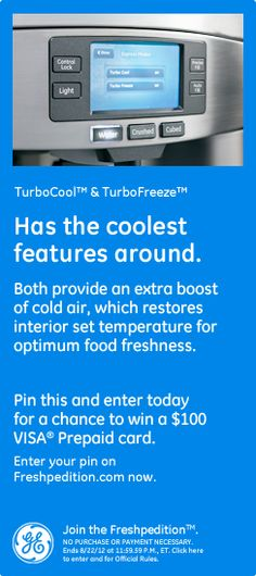 TurboCool™ & TurboFreeze™ – Has the coolest features around. Both provide an extra boost of cold air, which restores interior set temperature for optimum food freshness.
