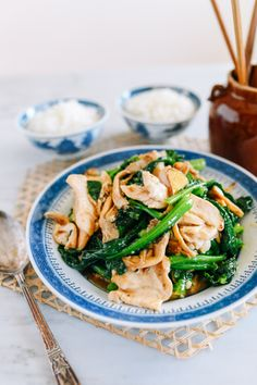 Chicken with Chinese Broccoli & Mushrooms   The Woks of Life