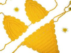 Yellow Crochet Gifts by Beautiful Daisy on Etsy