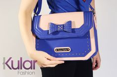 Really adorable bow handbag with studs. Go and follow us on Facebook!  https://www.facebook.com/kularclothing