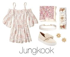"""""""Floral Outfit with Jungkook"""" by infires-jhope on Polyvore featuring Hollister Co., Humble Chic, Michael Kors and Kate Spade"""