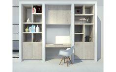 3D visual kastenwand op maat woonkamer door Studio Nest