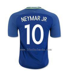 Brasil 2016-2017 segunda equipacion thai camiseta de futbol azul de NEYMAR JR 10,mas baratos precio,gratis envio alta calidad 12-15eur en 3futbolmoda.com